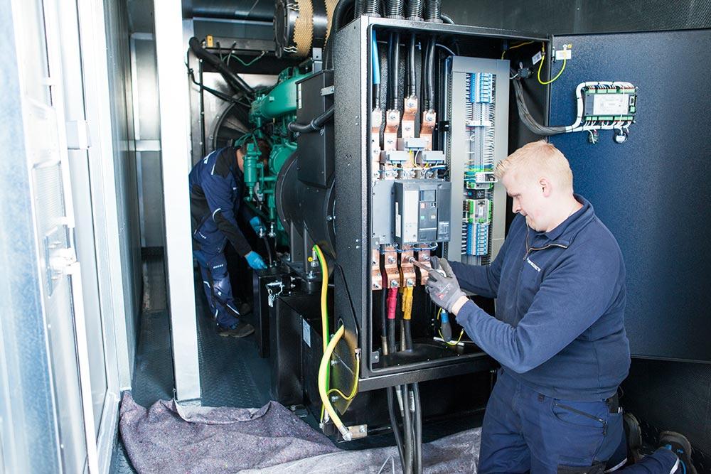 Wartung von Stromerzeugern, Notstromanlagen